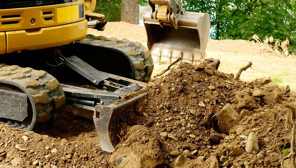 Petits travaux d'excavation